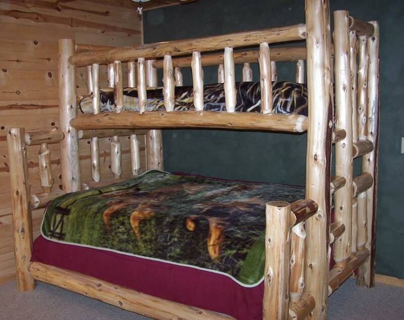 Bunk Beds Forest Log Furniture Railing
