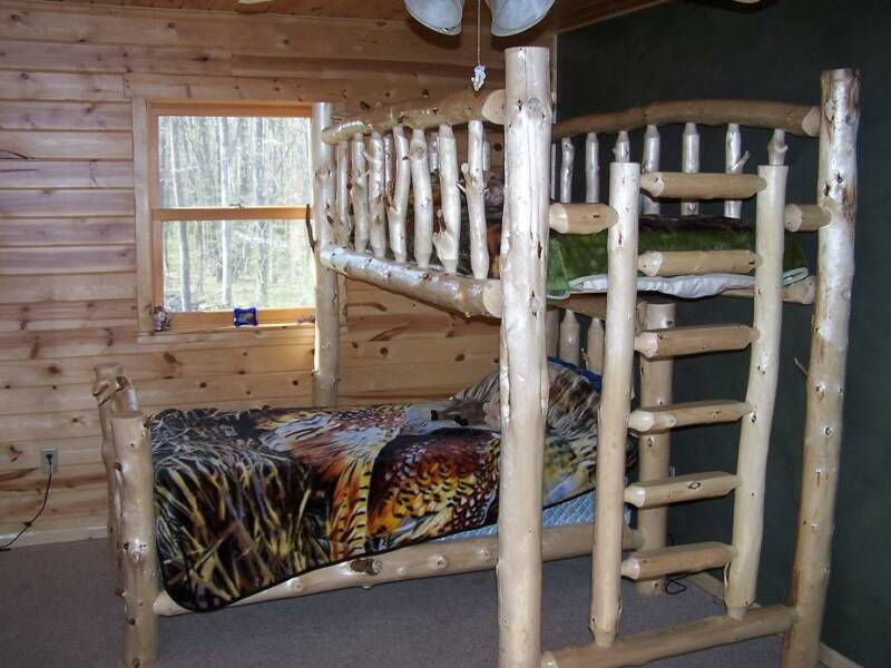 Bunk-Beds--Forest-Log-Furniture---Railing